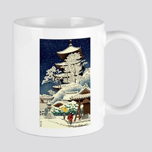 Cool Japanese Oriental Snow Winter Mugs