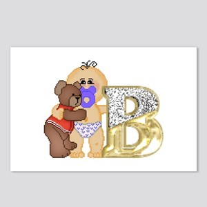 Baby Initials - B Postcards (Package of 8)