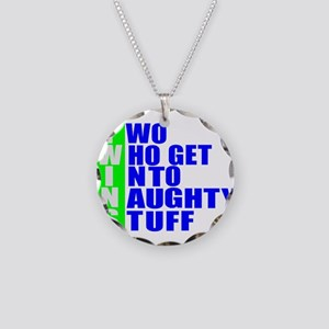 Naughty twins Necklace Circle Charm