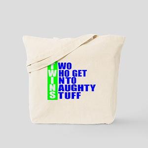 Naughty twins Tote Bag