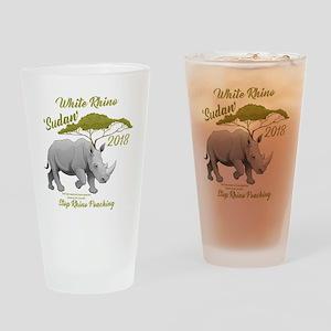 Stop Rhino Poaching - Tribute to Su Drinking Glass