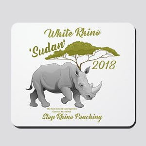 Stop Rhino Poaching - Tribute to Sudan Mousepad