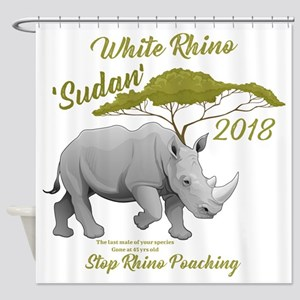 Stop Rhino Poaching - Tribute to Su Shower Curtain