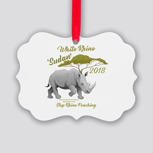 Stop Rhino Poaching - Tribute to Picture Ornament