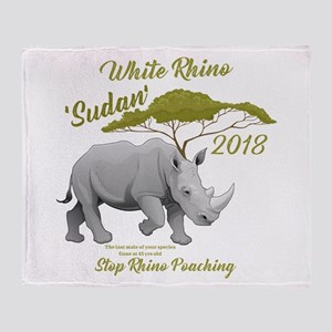 Stop Rhino Poaching - Tribute to Sud Throw Blanket