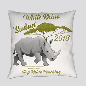 Stop Rhino Poaching - Tribute to S Everyday Pillow