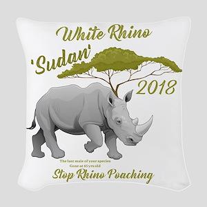 Stop Rhino Poaching - Tribute Woven Throw Pillow