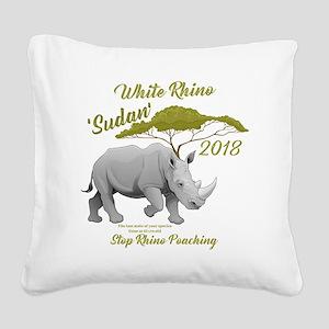 Stop Rhino Poaching - Tribute Square Canvas Pillow