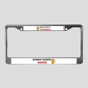 BEER HOLDER License Plate Frame