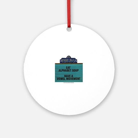 Cute Alphabet soup Round Ornament
