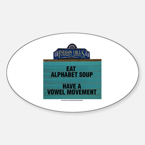Cute Alphabet soup Sticker (Oval)