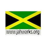 Jahworks Jamaican Flag Rectangle Magnet Magnets