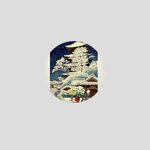 Cool Japanese Oriental Snow Winter Mini Button