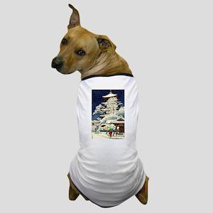Cool Japanese Oriental Snow Winter Dog T-Shirt