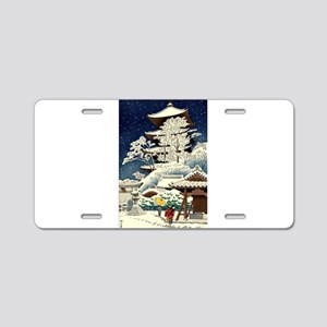 Cool Japanese Oriental Snow Aluminum License Plate