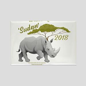 Stop Rhino Poaching - Tribute to Sudan Magnets