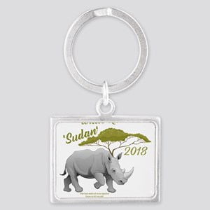 Stop Rhino Poaching - Tribute to Sudan Keychains