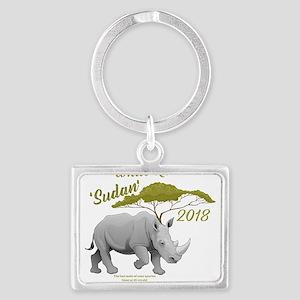 Stop Rhino Poaching - Tribute to Sudan Keychains