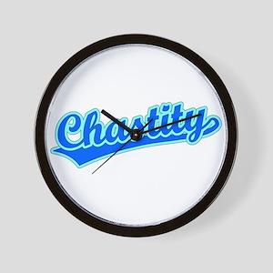Retro Chastity (Blue) Wall Clock