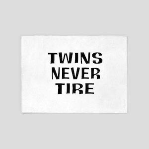 tireless twins 5'x7'Area Rug