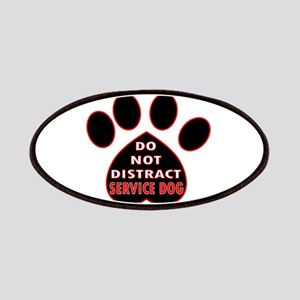 SERVICE DOG PAW DISTRACT Patch