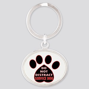 SERVICE DOG PAW DISTRACT Keychains