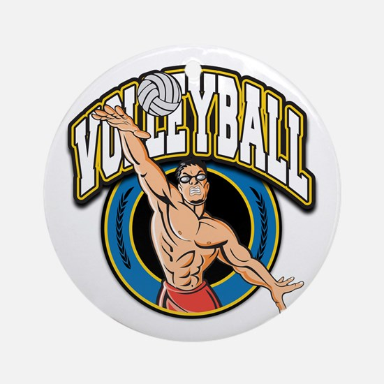 Men's Volleyball Logo Ornament (Round)