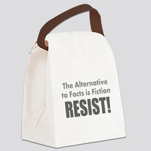 Just the Facts Canvas Lunch Bag