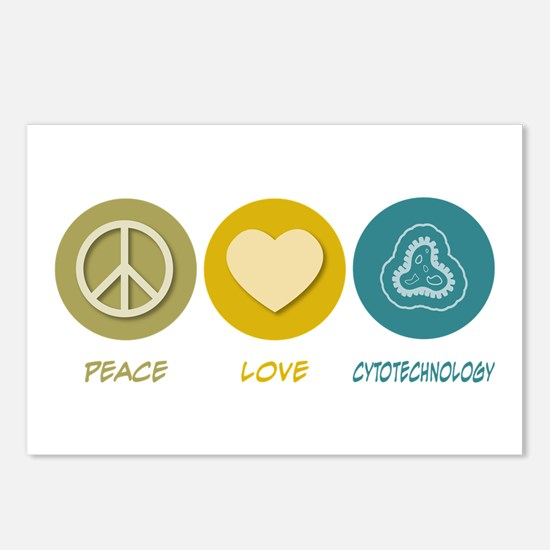 Peace Love Cytotechnology Postcards (Package of 8)