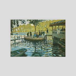 Claude Monet La Grenouillere 4' x 6' Rug