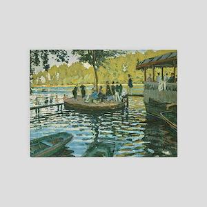 Claude Monet La Grenouillere 5'x7'Area Rug