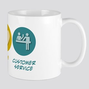 Peace Love Customer Service Mug