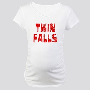 Twin Falls Faded (Red) Maternity T-Shirt