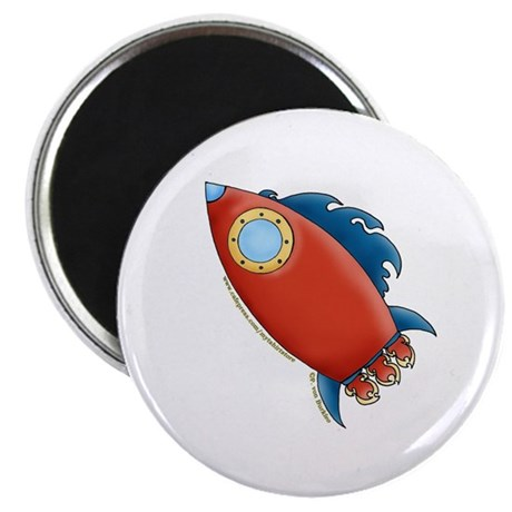 """Cute Rocket Picture 2 2.25"""" Magnet (100 pack)"""