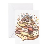 Kids Cookie Birthday Cards 10 Pack Cookie Cards