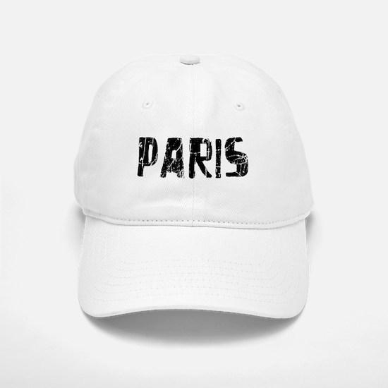 Paris Faded (Black) Baseball Baseball Cap