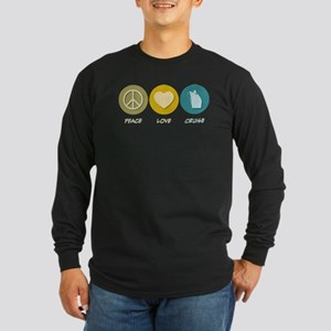 Peace Love Cruise Long Sleeve Dark T-Shirt
