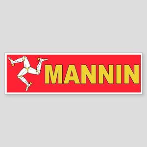 Mannin Bumper Sticker