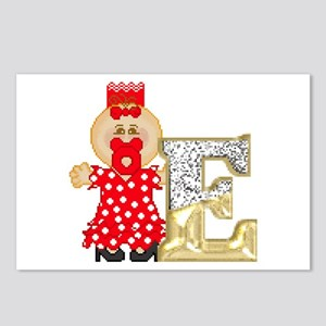 Baby Initials - E Postcards (Package of 8)