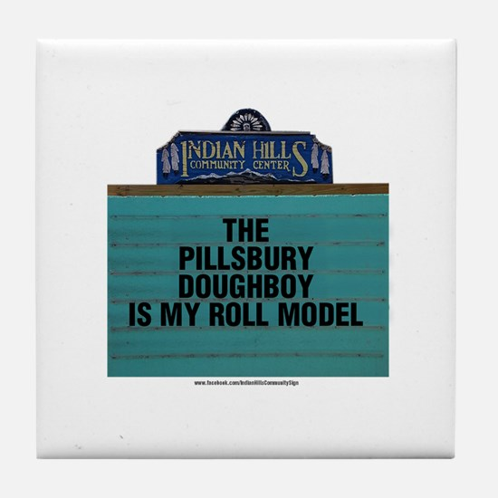 The Pillsbury Doughboy is my Roll Mod Tile Coaster