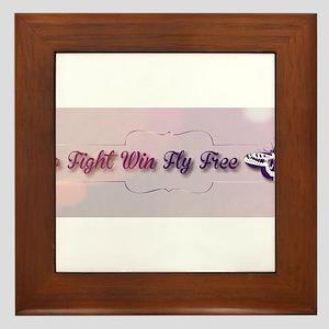 Go Fight Win Fly Free Framed Tile
