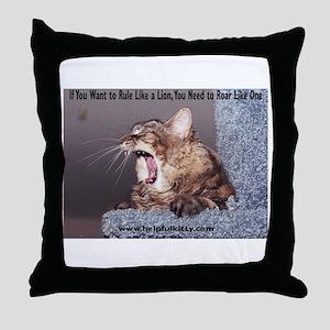 Roar Like a Lion Throw Pillow