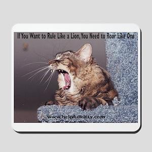 Roar Like a Lion Mousepad