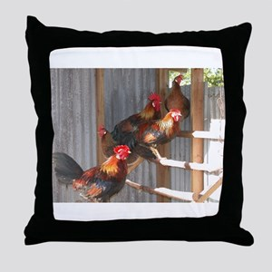 Roosting Throw Pillow