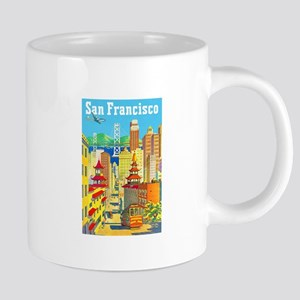 San Francisco Travel Poster 2 Mugs