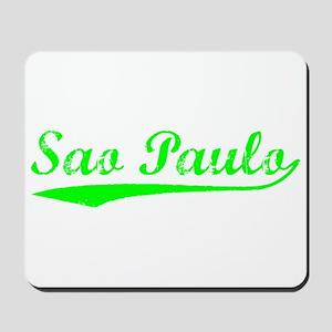Vintage Sao Paulo (Green) Mousepad