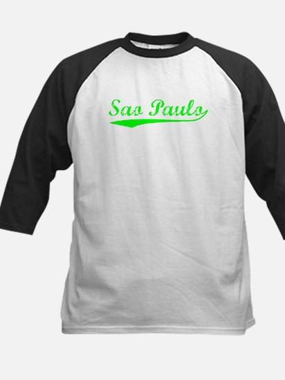 Vintage Sao Paulo (Green) Kids Baseball Jersey
