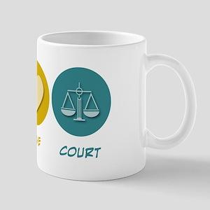 Peace Love Court Mug