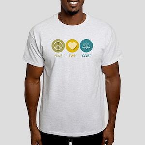 Peace Love Court Light T-Shirt