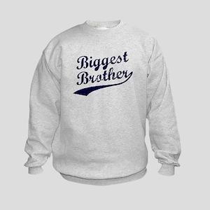 Biggest Brother (Blue Text) Kids Sweatshirt
